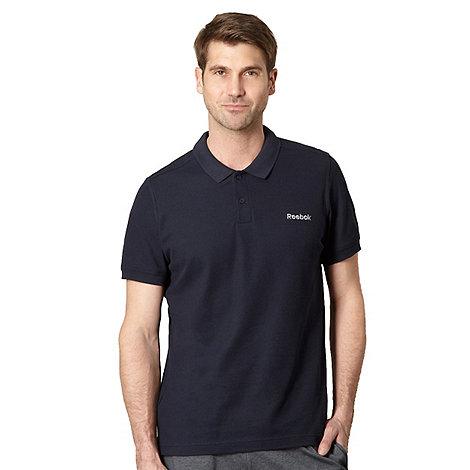Reebok - Navy pique polo shirt