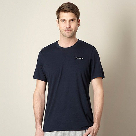 Reebok - Navy embroidered logo t-shirt