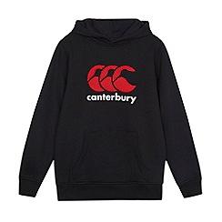 Canterbury - Boy's black classic logo hoodie