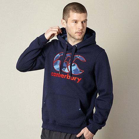 Canterbury - Navy applique logo hoodie
