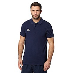 Canterbury - Navy pique polo shirt