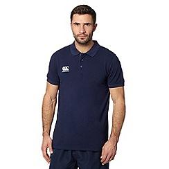 Canterbury - Navy pique polo shirt