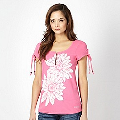 Animal - Pink oversize floral t-shirt