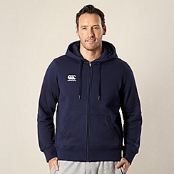 Canterbury - Navy zip through logo hoodie