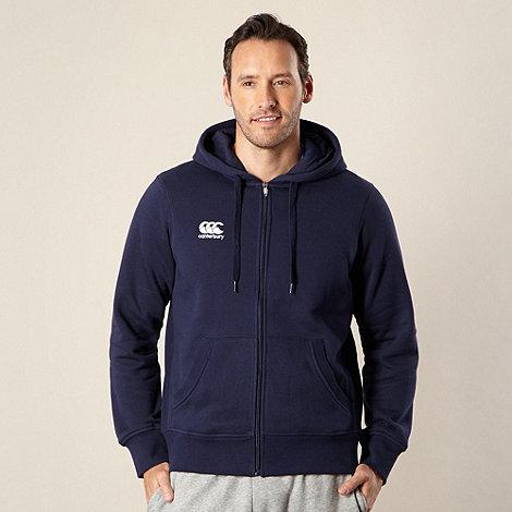 Canterbury - Navy zip through logo hoodie