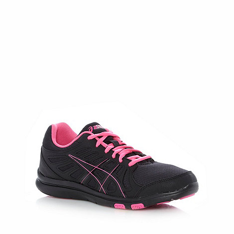 ASICS - Black +Ayami Shine+ mesh padded running trainers