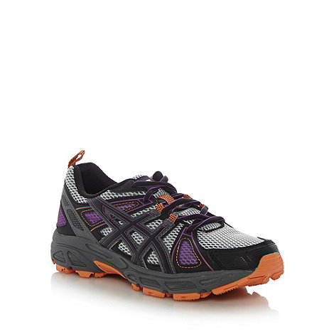 ASICS - Purple +Gel Trail Tambora 4+ mesh running trainers
