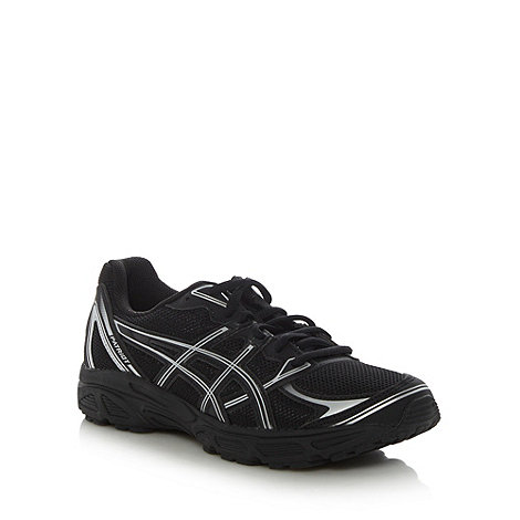 ASICS - Black 'Patriot 6' mesh running trainers