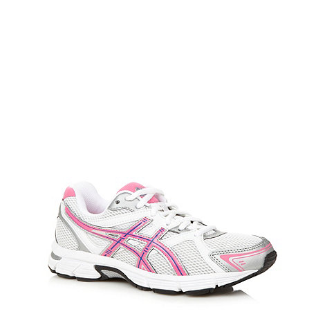 ASICS - White +Gel Pursuit+ meshed running trainers
