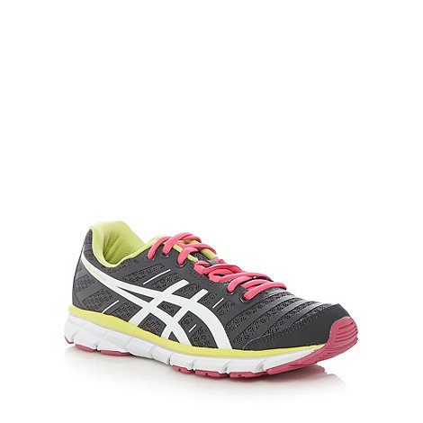 ASICS - Dark grey +Gel-Zaraca 2+ mesh running trainers