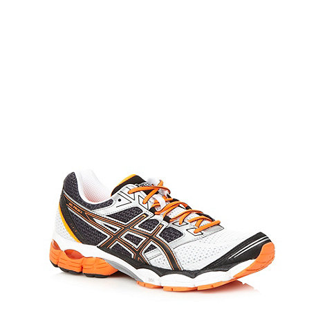ASICS - Orange +Pulse 5+ gel support running trainers