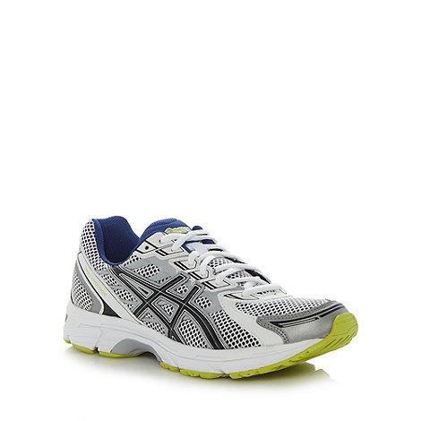ASICS - White +Gel Trounce+ mesh running trainers