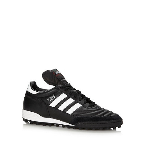 adidas - Black leather +Mundial Team+ trainers