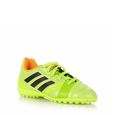 adidas - Boy+s lime logo stripe +Nitrocharge+ football trainers