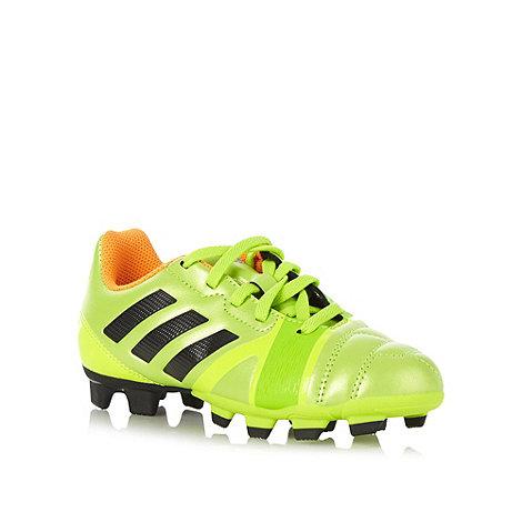 adidas - Boy+s lime logo stripe +Nitrocharge+ football boots