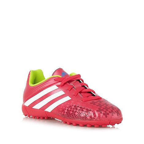 adidas - Boy+s pink logo stripe +Predito+ astro turf trainers