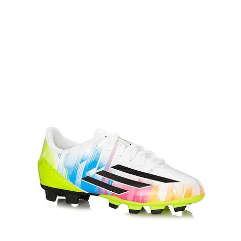 adidas - Boy+s white +F5 TRX FG J Messi+ firm ground football boots
