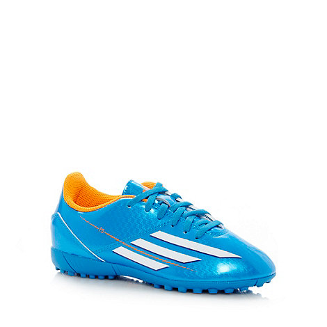 adidas - Boy+s blue logo stripe astro turf football boots