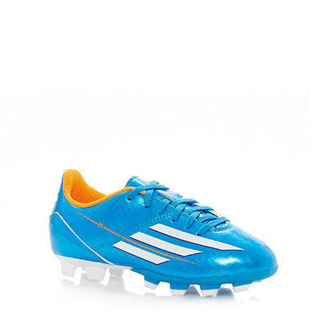adidas - Boy+s blue firm ground football boots