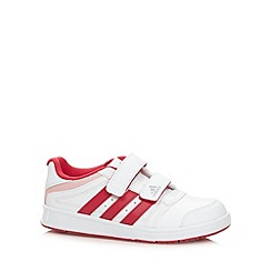 adidas - Girl's white 'LK Trainer 5' trainers