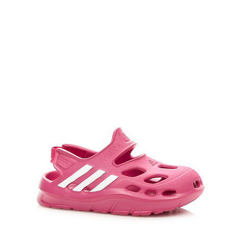 adidas - Girl+s pink stripe sandals