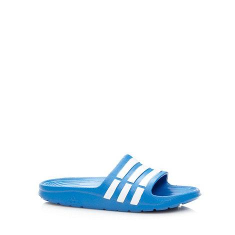 adidas - Boy+s blue stripe flip flops