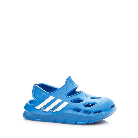 adidas - Boy+s blue stripe sandals