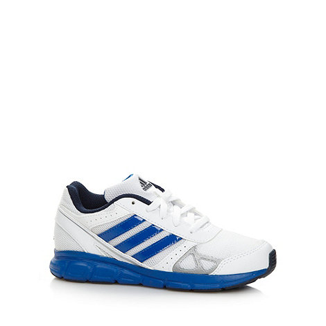 adidas - Boy+s white +Hyperfast+ trainers