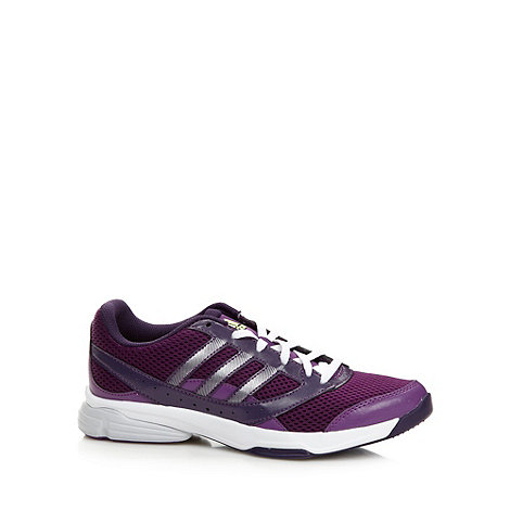adidas - Purple +Arianna 2+ mesh gym trainers