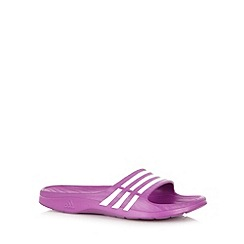 adidas - Purple stripe flip flops