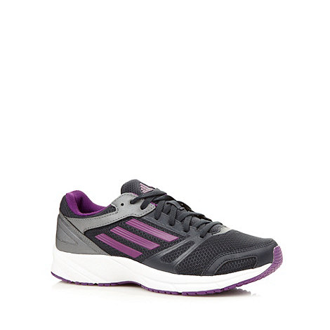 adidas - Purple +Lite Arrow+ mesh moulded running trainers