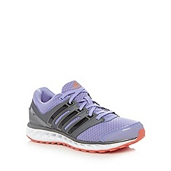adidas - Purple 'Falcon Elite' mesh running trainers