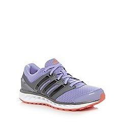 adidas - Purple 'Falcon Elite' mesh running trainers