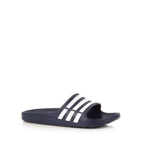 adidas - Navy stripe flip flops