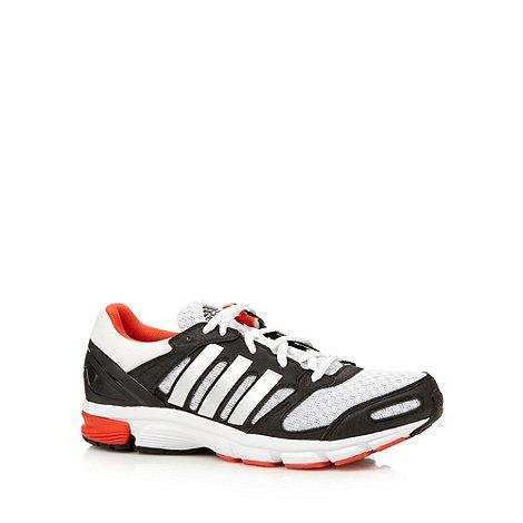 adidas - White +Duramo Nova 2+ mesh reflective logo running trainers