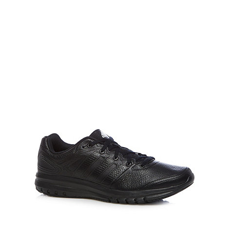 adidas - Black +Duramo 6+ leather trainers