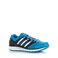 adidas - Blue 'Falcon Elite 3' mesh running trainers