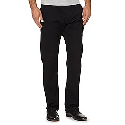 Oakley - Black lightweight straight leg trousers