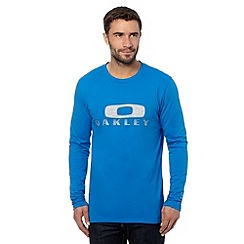 Oakley - Blue logo applique crew neck top
