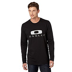Oakley - Black logo applique long sleeved top