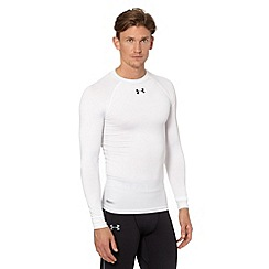 Under Armour - White long sleeved 'Heat Gear' compression top