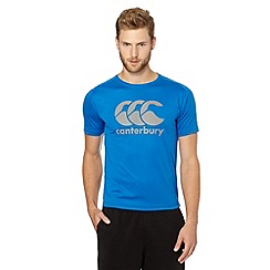 Canterbury - Blue sports logo t-shirt