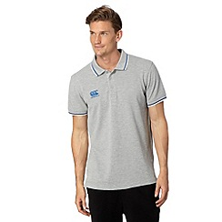 Canterbury - Grey tipped polo shirt