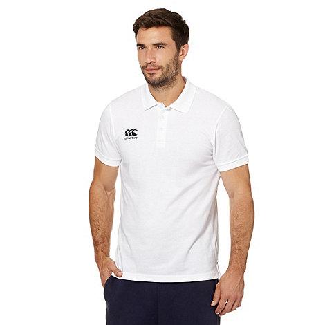 Canterbury - White stitched logo pique polo shirt