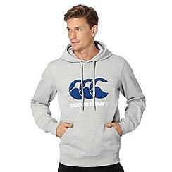 Canterbury - Grey logo applique hoodie