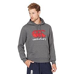 Canterbury - Dark grey classic logo hoodie