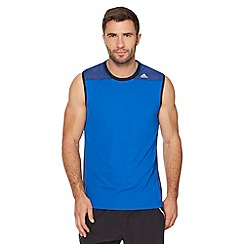 adidas - Blue mesh shoulder vest