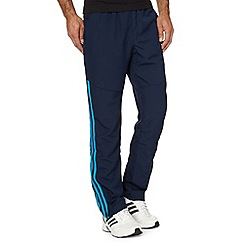adidas - Navy woven 'Clima' gym trousers