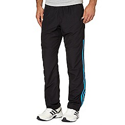 adidas - Black 'Clima' woven mesh gym trousers