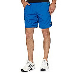 adidas - Blue woven gym shorts
